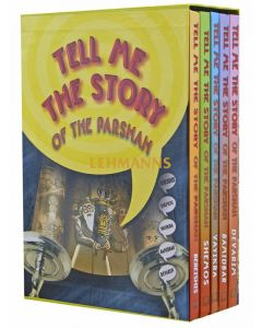Tell me the Story of the Parshah 5 Vol Boxed - Reinforced Binding Plastic-Covered Pages