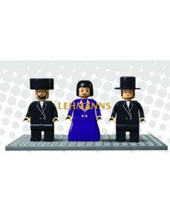 Binyan Blocks - Mini Figure Menchies Set Of 3 - Chassidish