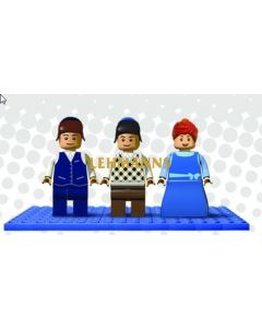 Binyan Blocks - Mini Figure Menchies Set Of 3 - Children
