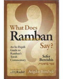 What Does Ramban Say? - Sefer Bereishis
