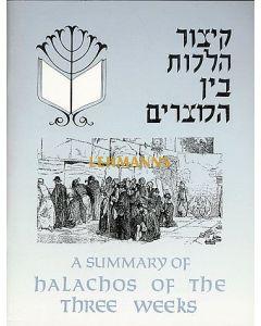 Summary of Halachos of the Three Weeks