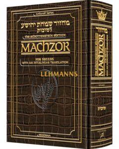 Schottenstein Interlinear Succos Machzor Full Size Ashkenaz - Alligator Leather