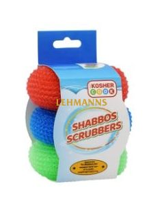 The Kosher Cook Shabbat Scrubbers - 3 Pack