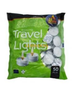 Ner Mitzvah Tealights Travel Candles in a Bag (50)