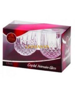 Ner Mitzvah Crystal Neironim Glass 2-Pk.