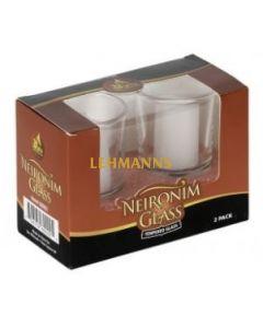 Ner Mitzvah Neironim Glass 2-Pk.