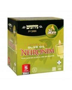 Ner Mitzvah Olive Oil Neironim 5 Hour