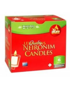 Ner Mitzvah Neironim Candles 6 Hour - 72 Pk