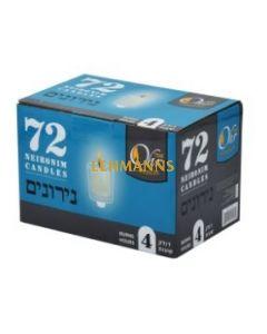 Ner Mitzvah Ohr Neironim Candles 4 Hour Ohr - 72 Pk
