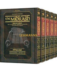 Kleinman Edition Midrash Rabbah Large Size: Complete 5 volume Slipcase set of the Megillos