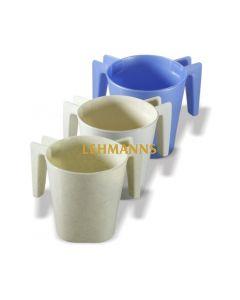 Art Judaica: Washing Cup- Light Brown Plastic