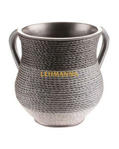 Art Judaica: Washing Cup - Polyresin Twisted Yarn-CopperGrey