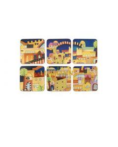 Yair Emanuel: Coasters with  Jerusalem Images-Pack-of-6