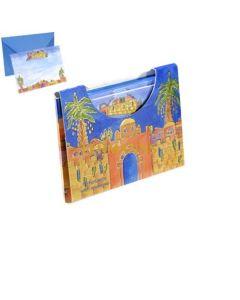 Yair Emanuel:Set of 10 Notelets & Envelopes with Jerusalem Images -Small