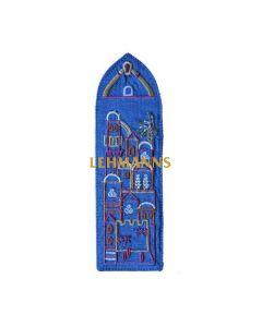 Yair Emanuel: Bookmark - Embroidered - Jerusalem Design in  Blue