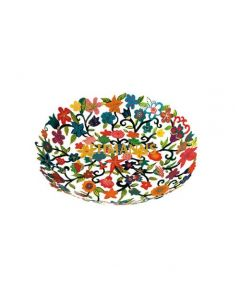 Yair Emanuel: Bowl - Small - Laser Cut + Hand Painted with Floral Decoration rs