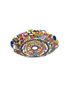 Yair Emanuel: Bowl - Small - Laser Cut + Hand Painted with  Jerusalem Decoration