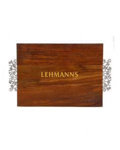 Yair Emanuel: Challah Board -Wood with Laser Cut Handles  with Ornate Pomegranate Decoration