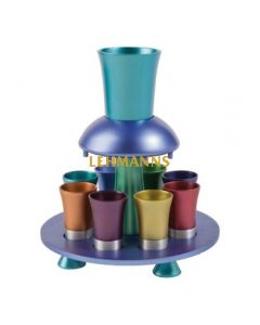 Yair Emanuel:Wine Fountain Set -Brushed Multicolour Aluminium