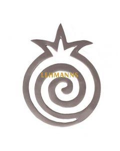 Yair Emanuel:Hot Dish Table Protector/Trivet-Aluminium-Pomegranate Spiral Design