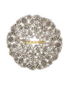 Yair Emanuel:Hot Dish Table Protector/Trivet-Aluminium-Ornate Oriental Design