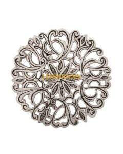 Yair Emanuel:Hot Dish Table Protector/Trivet-Aluminium-Ornate Floral Design