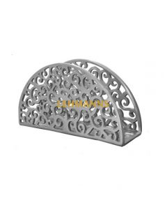 Yair Emanuel:Napkin/Birkat Hamazon Holder - Aluminium- Lace Design