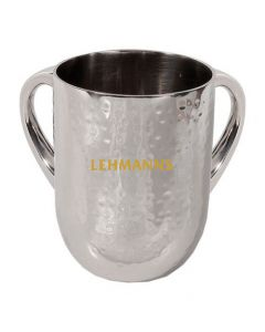 Yair Emanuell:Washing Cup - Hammered Metal-Contemporary Design-Silver Colou