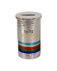 Yair Emanuel:Tzedakah Box-Hammered Nickel with Multicoloured Rings