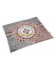 Dorit Judaica: Challah Cover-Mandala Design-Lecha Dodi Motif-Mandala Design