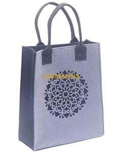 Dorit Judaica: Ladies and Girls Felt Tote Bag-Mauve-Mandala Pattern