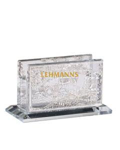 Match Box Holder - Mini - Crystal Jerusalem Silver