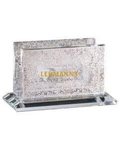 Match Box Holder - Mini - Crystal Floral Silver