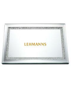 Mirror Tray With Diamonds Square