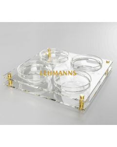Dip Dish- 4 Sectioned -Acrylic