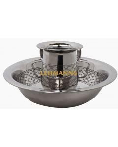 Washing Cup andBowl  Set-Geometric Design-Stainless Steel