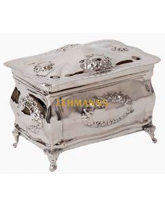 Etrog Box Silver Nickel Plated