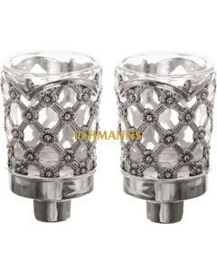 Neronim Holder- Silver-Nickel  Plated-Floral  Design