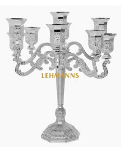 Candelabra 9 Branches Silver plated Filigree 22.8cm