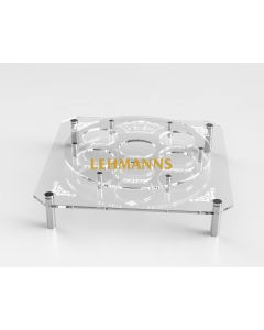 Seder Plate-Acrylic-Engraved With Silver Standoff