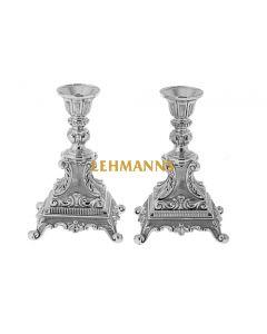 Candlesticks-Silver Plated -Ornate Design