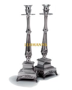 Candlesticks-Silver plated-Engraved 42cm