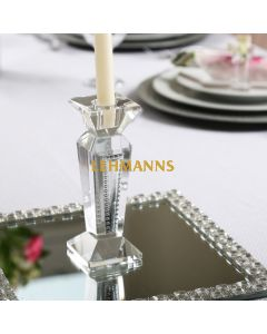Candlestick Crystal & Sterling Silver 15.2cm