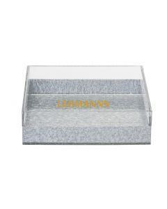 Napkin Holder-Acrylic-Silver Decoration