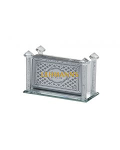 Match Box Holder-Crystal With Crushed Stones
