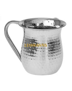 Wash Cup-Hammered Stainless Steel