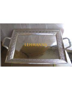 Tray- Silver Plated-Square- Ornate Design