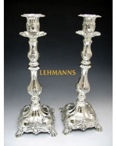 Candlesticks -Silver Plated-Ornate Decoration