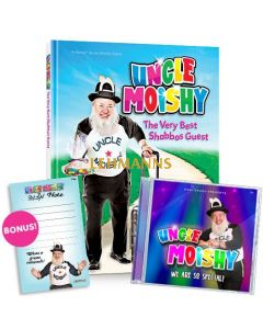 Uncle Moishy Book + CD + FREE Mitzvah Note Pad!