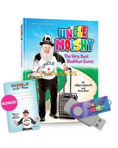 Uncle Moishy Book + USB + FREE Mitzvah Note Pad!